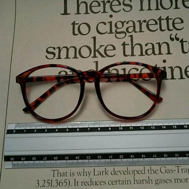ボストン☆伊達メガネ レンズレス レディースのファッション小物(サングラス/メガネ)の商品写真