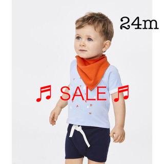 PETIT BATEAU - ★セール★ プチバトー 24m プリント半袖Tシャツ ライトブルー