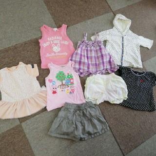 ホットビスケッツ(HOT BISCUITS)の〔サイズ80-90〕女の子夏服セット(Tシャツ/カットソー)