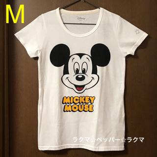 ミッキーマウス(ミッキーマウス)のミッキー Tシャツ M フェイス(Tシャツ(半袖/袖なし))