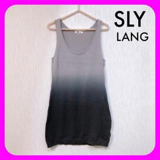 スライラング(SLY LANG)のSLY LANG ♥︎ タンクトップ ワンピース キャミワンピ(ミニワンピース)