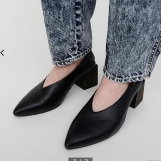 マウジー(moussy)のmoussy パンプス ヒール block heel pumps 24 24.5(ハイヒール/パンプス)