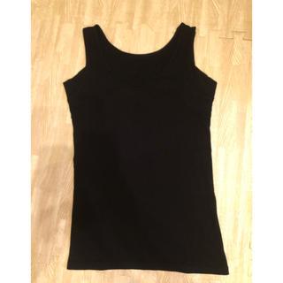 ムジルシリョウヒン(MUJI (無印良品))の無印 綿でさらっと汗取りパッド付きタンクトップ Mサイズ(アンダーシャツ/防寒インナー)