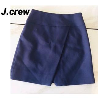 ジェイクルー(J.Crew)の新品未使用  ネイビースカート(ひざ丈スカート)
