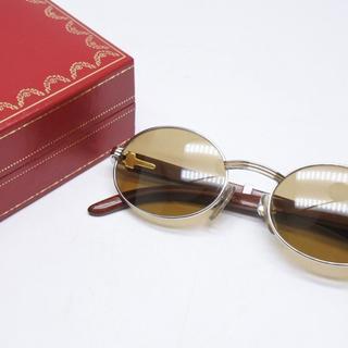 カルティエ(Cartier)のCartier カルティエ ヴィンテージ メガネ 51□20 ウッド 正規(サングラス/メガネ)