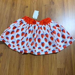 新品 pumpkin patch 苺柄スカート 5 110 120 (スカート)