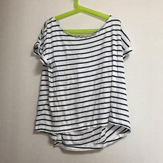 エフデ(ef-de)のef-de ビジュー ボーダー Tシャツ (Tシャツ(半袖/袖なし))