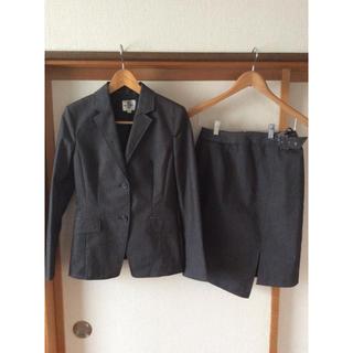 ミッシェルクラン(MICHEL KLEIN)のスカートスーツ  MK Klein  ミッシェルクラン 38サイズ  M グレー(スーツ)