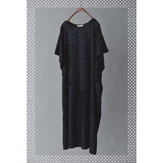 ミナペルホネン(mina perhonen)のミナペルホネン  knoll ドレス チャコール 36【新品】(ロングワンピース/マキシワンピース)