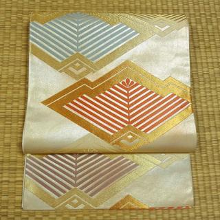 シャンパンゴールドに扇面図案 袋帯(帯)