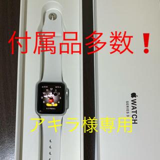 アップルウォッチ(Apple Watch)のApple Watch Series 3 38mm(GPSモデル)シルバー❗️(腕時計(デジタル))