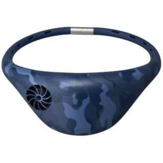ドウシシャ(ドウシシャ)の新品 限定カラー ドウシシャ ネックファン Hooop ネイビー(扇風機)