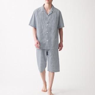 ムジルシリョウヒン(MUJI (無印良品))の脇に縫い目のない サッカー織り半袖パジャマ(その他)