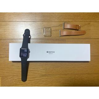 アップルウォッチ(Apple Watch)の【美品】Apple Watch series3 38mm  セット(腕時計(デジタル))