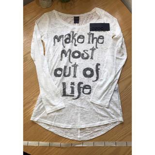 オゾック(OZOC)のOZOC オゾック 白 Tシャツ 未使用品 M レディース トップス ロンT(Tシャツ(長袖/七分))