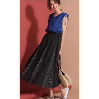 エニィスィス(anySiS)のかおり様専用タグ付き 新品 未使用 anysis ミックスドットゴアスカート ♪(ロングスカート)