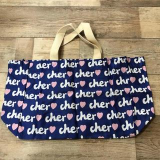 シェル(Cher)の新品 cher トートバッグ  エコバッグ 青(エコバッグ)