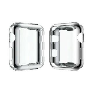 アップルウォッチ シリーズ 2/3 38mm 42mm 全面 保護 ケース 銀(腕時計(デジタル))