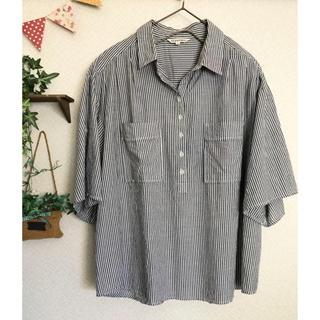 サンカンシオン(3can4on)の3can4on 半袖ストライプシャツ(シャツ/ブラウス(半袖/袖なし))