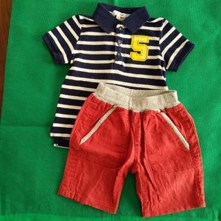 エニィファム(anyFAM)のanyFAM ポロシャツ100 グローバルワーク 半ズボンS(パンツ/スパッツ)