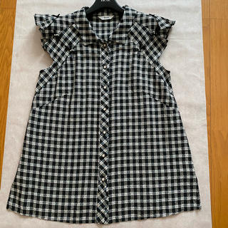 ルネ(René)のルネ ギンガムチェック ブラウス 34 ブラック(シャツ/ブラウス(半袖/袖なし))
