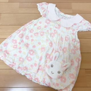 クーラクール(coeur a coeur)のクーラクール❤お花柄 バルーンチュニック オレンジ 100(Tシャツ/カットソー)