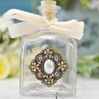 フランフラン(Francfranc)のガラス瓶 ビジュー 置物 オブジェ ディフューザー アンティーク レトロ 花瓶(インテリア雑貨)