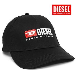 ディーゼル(DIESEL)の1 DIESEL ヴィンテージロゴ ブラック キャップ 帽子 男女兼用(キャップ)