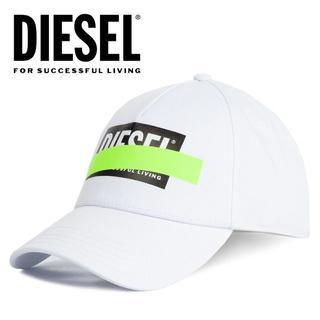 ディーゼル(DIESEL)の2 DIESEL CIRIDE ボックスロゴ ネオンテープ ホワイト キャップ(キャップ)