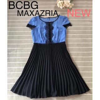 ビーシービージーマックスアズリア(BCBGMAXAZRIA)の新品maxandcleo膝丈ワンピースS(ミディアムドレス)