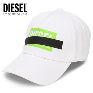 ディーゼル(DIESEL)の4 DIESEL CIRIDE M ボックスロゴ テープ ホワイト キャップ(キャップ)