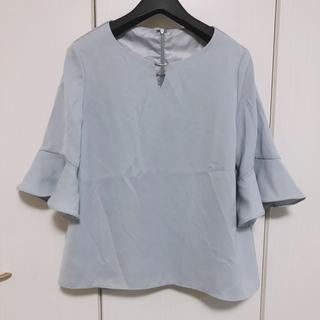 ディノス(dinos)のBELINDA DE CAPRIS メタルバー フレア袖 レース ブラウス(シャツ/ブラウス(半袖/袖なし))