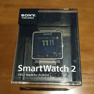 ソニー(SONY)のSONY  smartwatch2 保護フィルム貼り付け済(腕時計(デジタル))