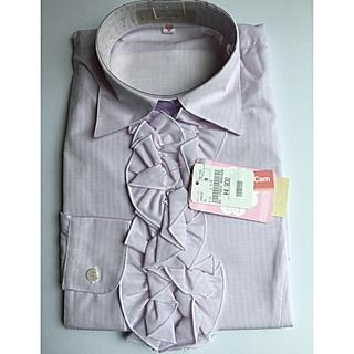 アオキ(AOKI)のAOKI ワイシャツ 9号レディース 長袖 新品 未使用(シャツ/ブラウス(長袖/七分))