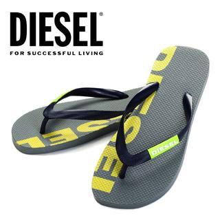 ディーゼル(DIESEL)の3 DIESEL グレー ビーチサンダル メンズ size 44(サンダル)