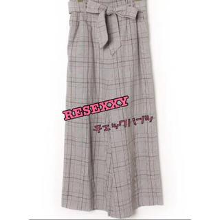 リゼクシー(RESEXXY)のRESEXXYチェックパンツ★1度短時間着用★(カジュアルパンツ)