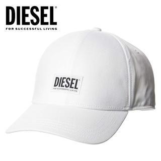 ディーゼル(DIESEL)の8 DIESEL CORRY ロゴ ホワイト キャップ 帽子 男女兼用(キャップ)
