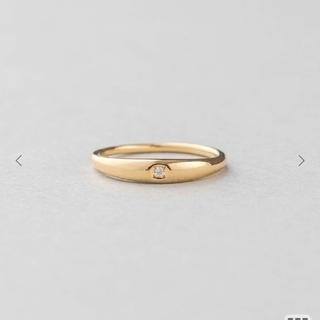 エテ(ete)のete K18YGダイヤモンドピンキーリング(リング(指輪))