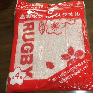 コカコーラ(コカ・コーラ)のコカコーラ 景品 タオル 高吸収フェイスタオル(タオル/バス用品)