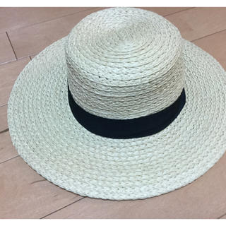 エイチアンドエイチ(H&H)のH&M ストローハット 麦わら帽子 新品未使用品(麦わら帽子/ストローハット)
