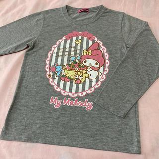 マイメロディ(マイメロディ)のマイメロディの長袖Tシャツ130☆グレー(Tシャツ/カットソー)