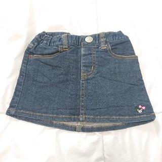 ダブルビー(DOUBLE.B)のミキハウス ダブルB B子ちゃんワンポイントデニムスカート 90(スカート)
