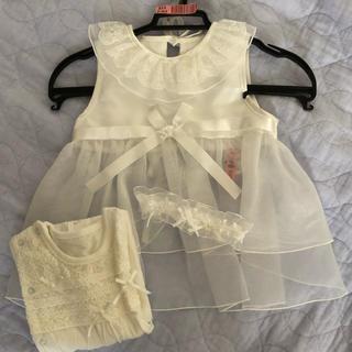 ミキハウス(mikihouse)のベビードレス セレモニードレス ロンパース(セレモニードレス/スーツ)