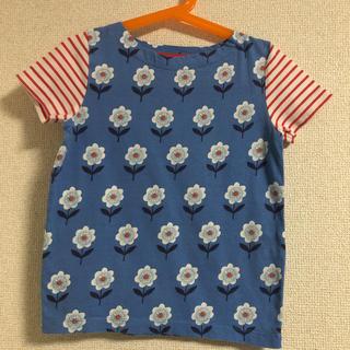ボーデン(Boden)の美品 mini boden お花プリントTシャツ 5-6y(Tシャツ/カットソー)