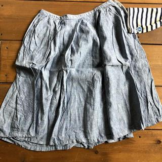 ムジルシリョウヒン(MUJI (無印良品))の無印良品 麻 スカート リネン(ひざ丈スカート)