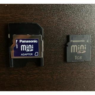 パナソニック(Panasonic)のmini SDカード 1GB (アダプタ付)(PC周辺機器)