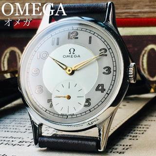 オメガ(OMEGA)のOH済★極上ビンテージ★美品★オメガ アンティーク 腕時計 メンズ 1940年代(腕時計(アナログ))