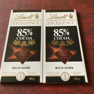 リンツ(Lindt)のリンツチョコレート85%カカオ(菓子/デザート)