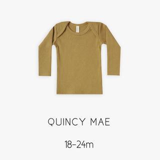 QUINCYMAE クインシーメイ / リブTEE(Tシャツ/カットソー)