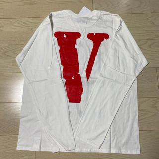 オフホワイト(OFF-WHITE)のVLONE ヴィローン ヴィーロン ロングTシャツ Lサイズ 新品 正規品 長袖(Tシャツ/カットソー(七分/長袖))